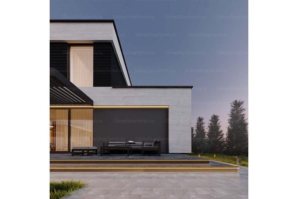 Большой дом с плоской крышей «Лубер» | Фото №6