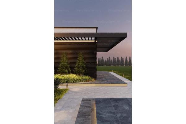 Большой дом с плоской крышей «Лубер» | Фото №8