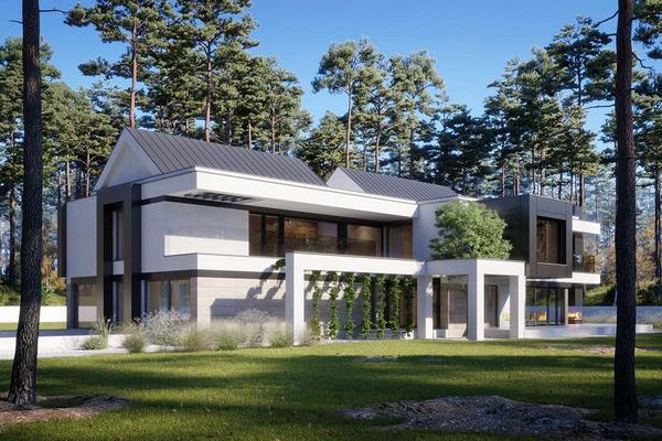Двухэтажная резиденция в современном стиле | Тарп фото №1