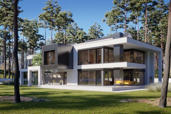 Двухэтажная резиденция в современном стиле | Тарп фото №2