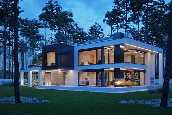 Двухэтажная резиденция в современном стиле | Тарп фото №5