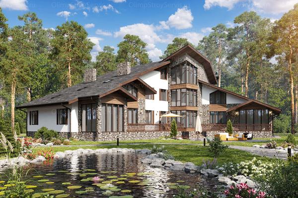 Двухэтажный дом с мансардой в стиле Шале| Салланш фото №1