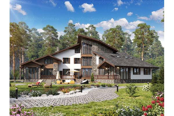 Двухэтажный дом с мансардой в стиле Шале| Салланш фото №2