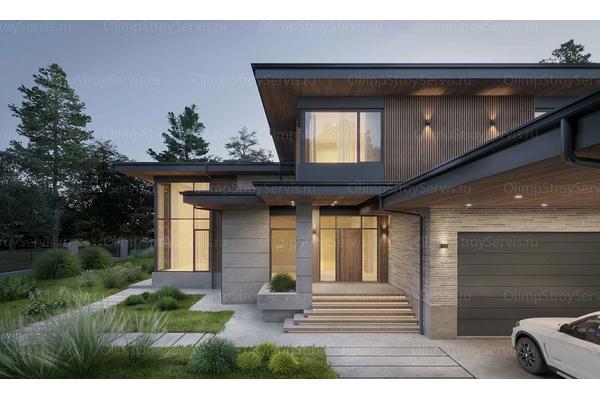 проекты домов в стиле райта