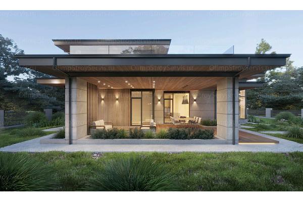 двухэтажный дом в стиле райта
