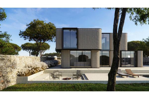 Современный дом с открытой террасой