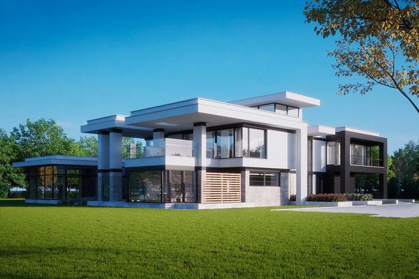 Резиденция в стиле Хай-Тек «Гартмор» | Проектирование и строительство фото №2
