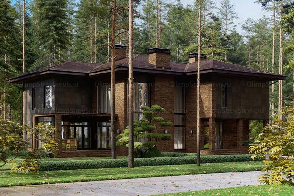 Современный дом с комбинированным фасадом «Тарм»| Проектирование и строительство