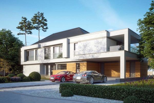Современный дом с навесом для автомобиля | Мердорф фото №5