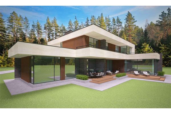 Современный двухэтажный дом с плоской крышей| Калифорния фото №11