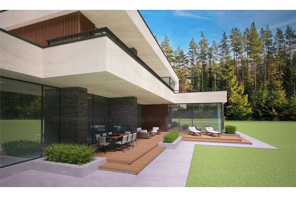 Современный двухэтажный дом с плоской крышей| Калифорния фото №12