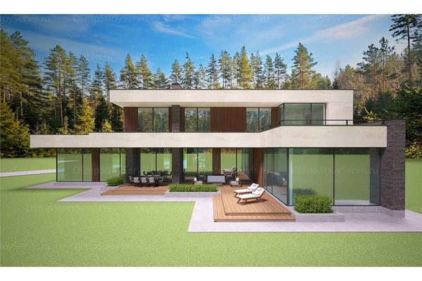 Современный двухэтажный дом с плоской крышей| Калифорния фото №13