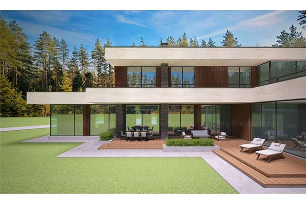 Современный двухэтажный дом с плоской крышей| Калифорния фото №14