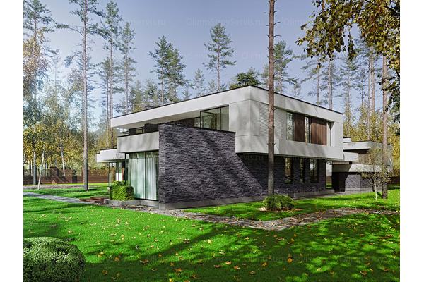 Современный двухэтажный дом с плоской крышей| Калифорния фото №4