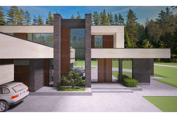 Современный двухэтажный дом с плоской крышей| Калифорния фото №7