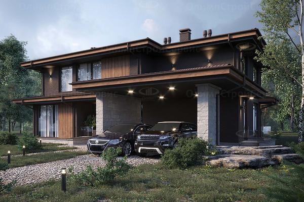 Дом с комбинированным фасадом «Ашленд»