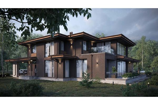 дом с комбинированным фасадом кирпич