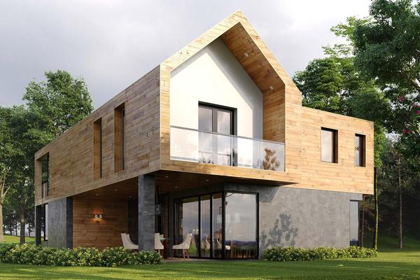 проекты домов в стиле барнхаус
