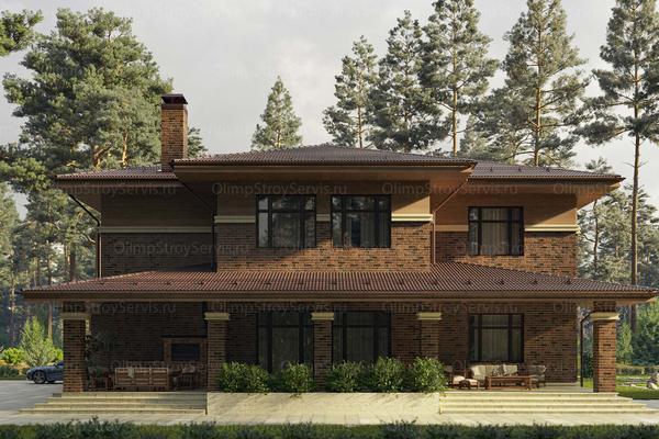Дом в стиле райт двухэтажный