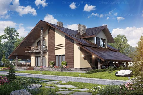 дома и коттеджи в стиле шале