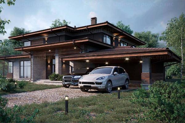Двухэтажный дом в стиле Райта «Далс»