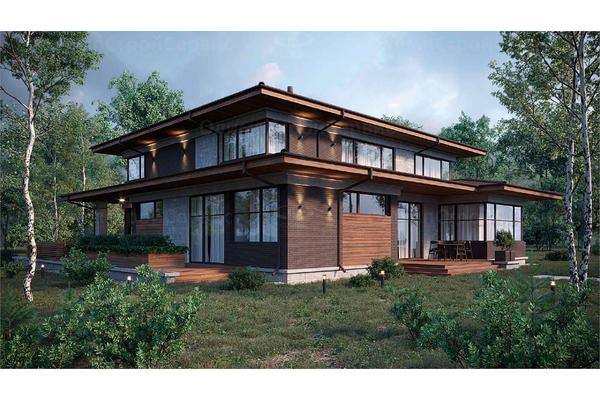 дома в стиле райта двухэтажные большие