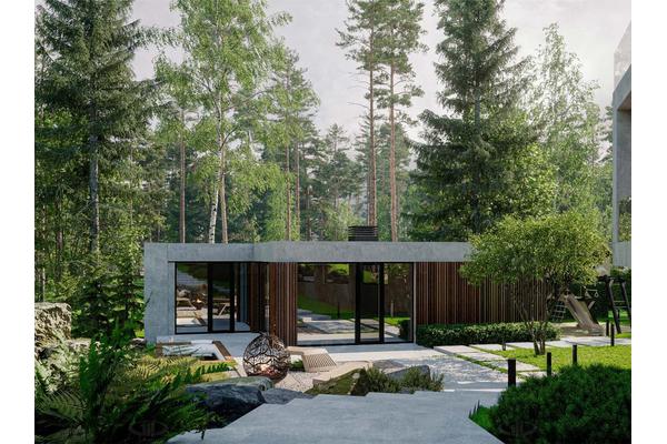 проекты домов и коттеджей с плоской крышей